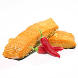 Hot-smoked Norwegian salmon...