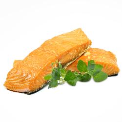 Hot-smoked Norwegian salmon...